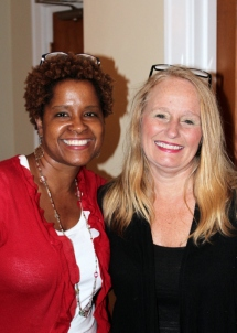 Karen Boyd and Lisa VanDyke offer service with a smile.